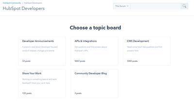 허브스팟 헬프 데스크 HubSpot Developers
