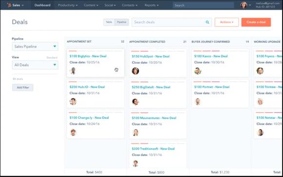 디지털 방식의 세일즈와 스마케팅을 더 쉽게 – Sales Hub